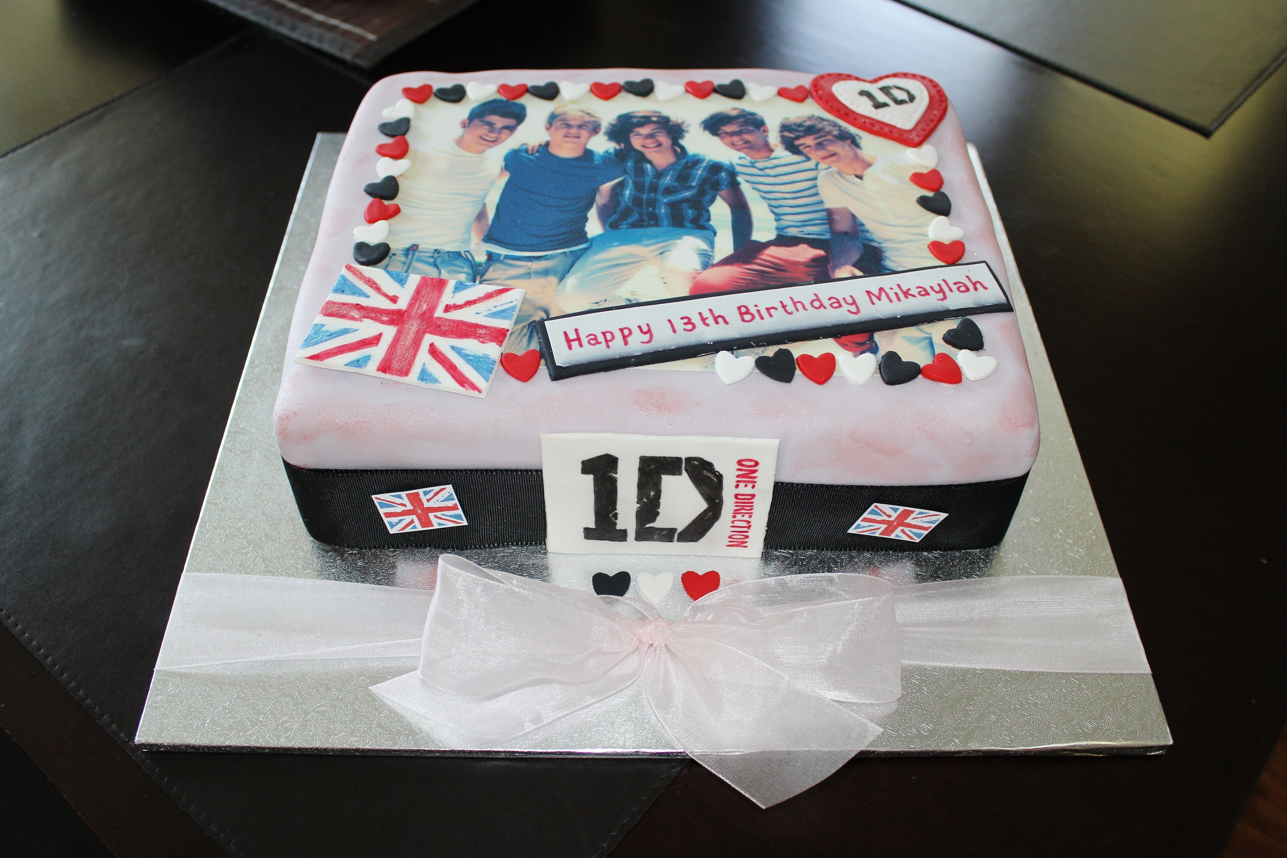 One direction scrapbook ideas - This One Direction Cake Was Done In A Vintage Style It Was Great Fun To Make Almost A Bit Like Scrapbooking I Drew The 1d Logos And Union Jack Onto Gum